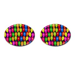 Happy Balloons Cufflinks (Oval)