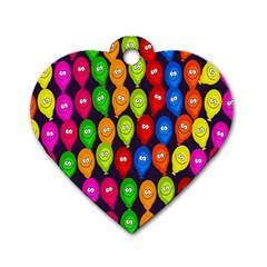 Happy Balloons Dog Tag Heart (One Side)