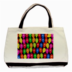 Happy Balloons Basic Tote Bag (Two Sides)
