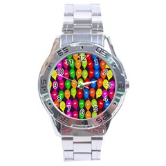 Happy Balloons Stainless Steel Analogue Watch