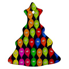 Happy Balloons Christmas Tree Ornament (Two Sides)