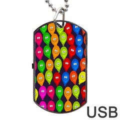 Happy Balloons Dog Tag USB Flash (Two Sides)