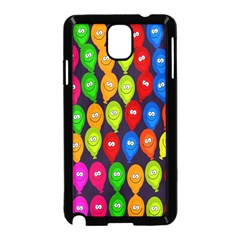Happy Balloons Samsung Galaxy Note 3 Neo Hardshell Case (Black)