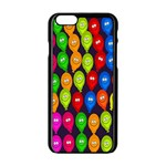 Happy Balloons Apple iPhone 6/6S Black Enamel Case Front