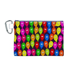 Happy Balloons Canvas Cosmetic Bag (m)
