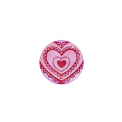 Heart Background Lace 1  Mini Buttons