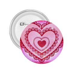 Heart Background Lace 2.25  Buttons