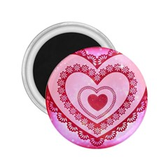 Heart Background Lace 2.25  Magnets