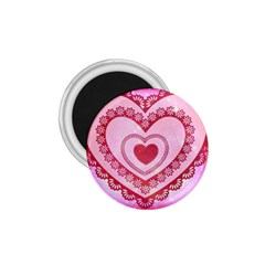 Heart Background Lace 1.75  Magnets