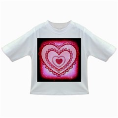 Heart Background Lace Infant/Toddler T-Shirts
