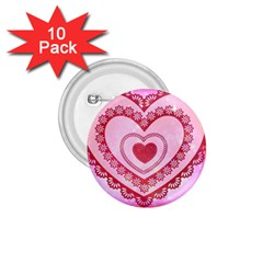 Heart Background Lace 1.75  Buttons (10 pack)
