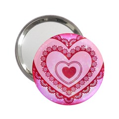 Heart Background Lace 2.25  Handbag Mirrors