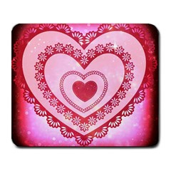 Heart Background Lace Large Mousepads