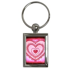 Heart Background Lace Key Chains (Rectangle)