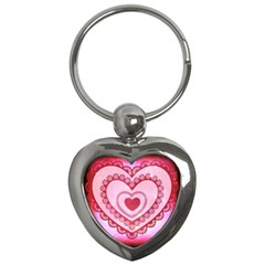 Heart Background Lace Key Chains (Heart)