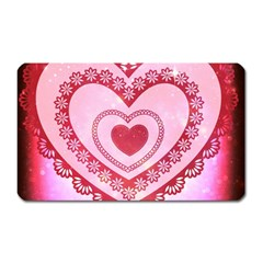 Heart Background Lace Magnet (rectangular)