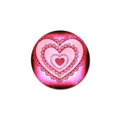 Heart Background Lace Golf Ball Marker
