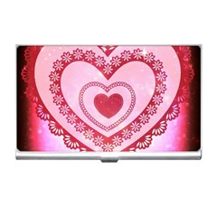 Heart Background Lace Business Card Holders