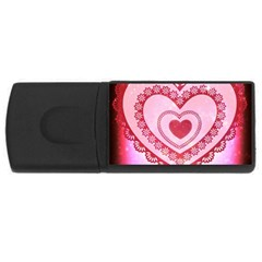 Heart Background Lace USB Flash Drive Rectangular (2 GB)