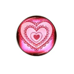 Heart Background Lace Hat Clip Ball Marker (4 Pack)