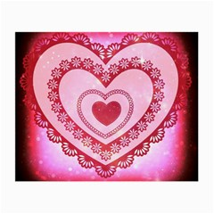 Heart Background Lace Small Glasses Cloth