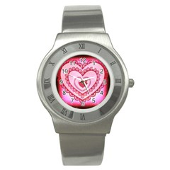 Heart Background Lace Stainless Steel Watch