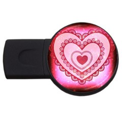 Heart Background Lace USB Flash Drive Round (4 GB)