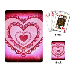 Heart Background Lace Playing Card