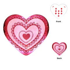 Heart Background Lace Playing Cards (Heart)