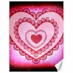 Heart Background Lace Canvas 18  x 24
