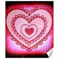 Heart Background Lace Canvas 20  x 24