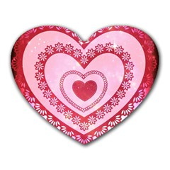 Heart Background Lace Heart Mousepads