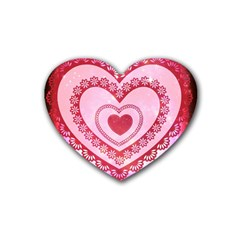 Heart Background Lace Heart Coaster (4 pack)