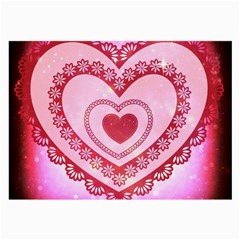 Heart Background Lace Large Glasses Cloth (2-Side)