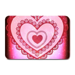Heart Background Lace Plate Mats