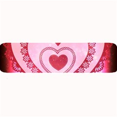 Heart Background Lace Large Bar Mats