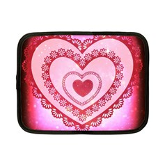 Heart Background Lace Netbook Case (Small)