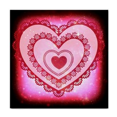 Heart Background Lace Face Towel