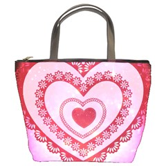 Heart Background Lace Bucket Bags
