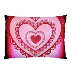 Heart Background Lace Pillow Case