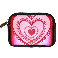 Heart Background Lace Digital Camera Cases