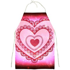 Heart Background Lace Full Print Aprons