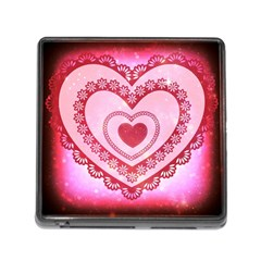 Heart Background Lace Memory Card Reader (Square)