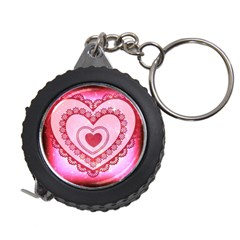 Heart Background Lace Measuring Tapes