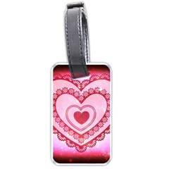 Heart Background Lace Luggage Tags (One Side)