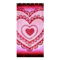 Heart Background Lace Shower Curtain 36  x 72  (Stall)