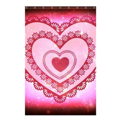 Heart Background Lace Shower Curtain 48  x 72  (Small)