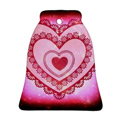 Heart Background Lace Ornament (bell)