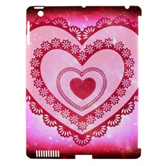 Heart Background Lace Apple iPad 3/4 Hardshell Case (Compatible with Smart Cover)
