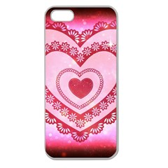 Heart Background Lace Apple Seamless iPhone 5 Case (Clear)